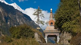 For the Himalayan villages often falls by the orna stock images