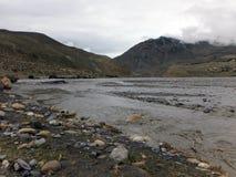 Himalayanrivier tijdens Moesson royalty-vrije stock fotografie