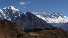 Himalayas Mountains, Everest region, Nepal Royalty Free Stock Photo