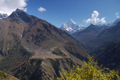 Himalayas Mountains, Everest region, Nepal Stock Image