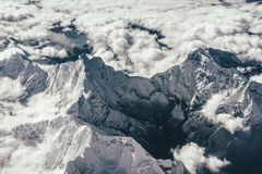 Himalayas from the air. Himalaya peak from the air royalty free stock photography