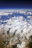 Himalayas from the air. Himalayas mountains from the aircraft Royalty Free Stock Image