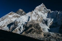 Himalayas. Amazing beautiful mountains on Himalayas - Nepal Royalty Free Stock Image