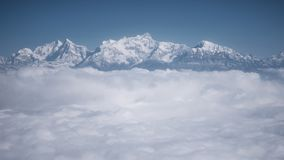 The Himalayas as seen from an airplane, Nepal Stock Photos