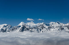 Himalayas in the Clouds - Nepal Royalty Free Stock Photo