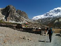 Himalayas - em torno de Manang imagens de stock