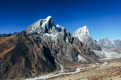 Himalayas. Great mountain views of Himalayas in Nepal trekking on the way to Everest base camp Stock Photography
