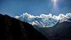 Himalayas. Great mountains of Himalayas in Tibet China Stock Photo