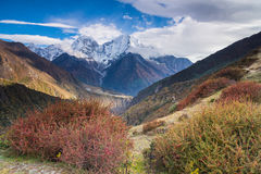 Himalayas. Himalayan Mountain Range, Nepal Royalty Free Stock Images