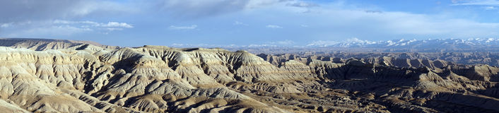 Himalayas i Tibet Arkivfoton