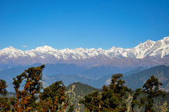 The Himalayas. The Kedarnath mountain range as seen from Tungnath Stock Photo