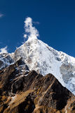 Himalayas landscape in Nepal. Taboche mountain in Himalayas, Nepal. Beautiful view mountains landscape Royalty Free Stock Images