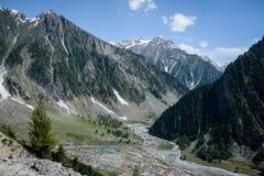 Himalayas landskap i sommar Arkivfoto