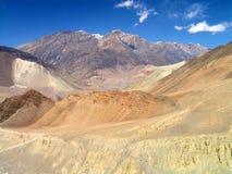 Himalayas - montanhas em torno de Marpha fotos de stock