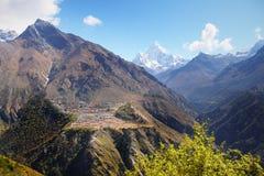 Himalayas, montanhas, Nepal Fotografia de Stock