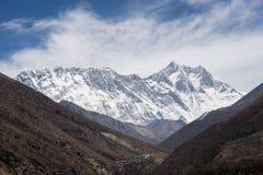 Himalayas mountain landscape in Everest region, Nepal Stock Photos