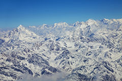 Himalayas Mountain Range from an Aircraft Stock Photography