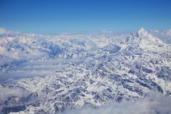 Himalayas Mountain Range from an Aircraft Stock Image