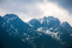 Himalayas Mountain in Sikkim, India Stock Photo