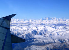 The Himalayas mountains from above Stock Image