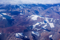 Himalayas mountains aerial view Royalty Free Stock Photography