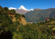 Himalayas Mountains Annapurna Range stock photography