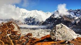 Himalayas Mountains, High Peaks Glacier, Nepal Stock Image
