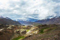 Himalayas mountains in india spiti valley Stock Photo