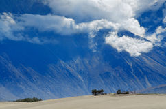 Himalayas mountains in Nubra desert Royalty Free Stock Images