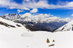 Himalayas mountains panorama landscape view in Annapurna area Royalty Free Stock Photos