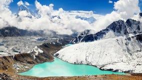 Himalayas Mountains, Peaks Glacier Lakes, Nepal Stock Photography