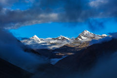 HImalayas mountains on sunrise Stock Photography