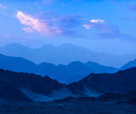 Himalayas mountains in twilight. Ladakh, Jammu and Kashmir, India Stock Photo