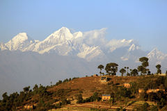 The Himalayas and Nagarkot royalty free stock photo