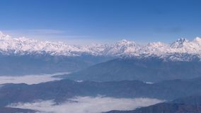 Himalayas of Nepal. As seen from a mountain flight