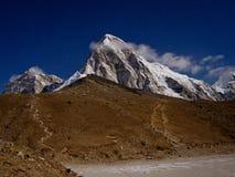 Himalayas at night.  Everest region, Nepal. Himalayas at night. Mt. Pumori (Pumo Ri). Everest region, Nepal Royalty Free Stock Image