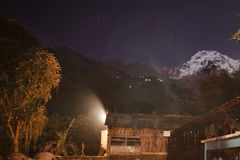 Himalayas in night time Stock Photography