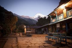 Himalayas in night time Royalty Free Stock Photo