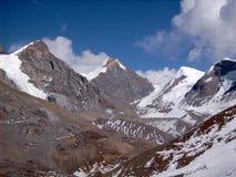 Himalayas - passagem do La de Thorung imagem de stock