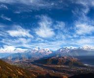 Himalayas from Sarangkot hill, Pokhara, Nepal Royalty Free Stock Photo