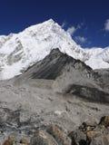 Himalayas. Seven thousand high Nuptse peak near Mt Everest in Nepalse Himalayas Stock Images