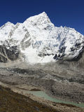 Himalayas. Seven thousand Nuptse mountain near Mt Everest in Nepal Royalty Free Stock Images