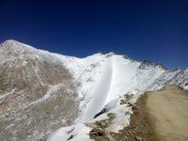 Himalayas. A snow Himalayas and a dark blue sky Stock Photos