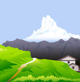 Himalayas & Snow peaks Vector. Himalayas is a  landscape Royalty Free Stock Photo