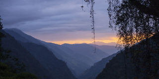Himalayas at the sunset time Stock Images