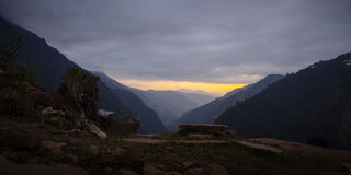 Himalayas at the sunset time Royalty Free Stock Photography