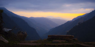 Himalayas at the sunset time Royalty Free Stock Photo