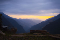 Himalayas at the sunset time Royalty Free Stock Images