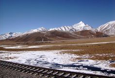 Himalayas - Tibet countryside - from a train Stock Images