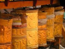 Himalayas - Tibet - rodas de oração imagens de stock royalty free